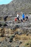 Biciclette sulla cima del vulcano Fotografia Stock