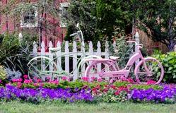 Biciclette in un giardino Immagine Stock