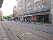 Biciclette verdi Fotografia Stock