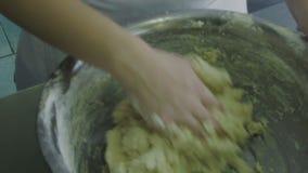 Bicie melanżeru ciasto dla ciastek zbiory