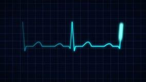 Bicie serca krzywa ilustracji
