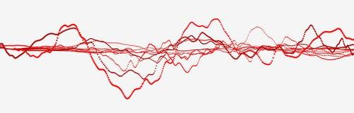 Bicie serca linia kardiogram Kierowy puls Dynamiczny ?wiat?o przep?yw ?wiadczenia 3 d royalty ilustracja