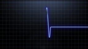 Bicie serca puls w błękicie, ilustracja wektor