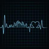 Bicie serca robi budynkowi i sercu projektować Obraz Royalty Free