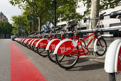 Bicing Vodafone - Barcelona Spain Stock Photos