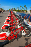 Bicing Vodafone - Barcelona Spanien Royaltyfri Fotografi
