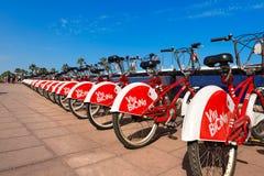 Bicing Vodafone - Barcelona Spanien Royaltyfria Bilder
