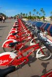 Bicing Vodafone - Espanha de Barcelona Fotografia de Stock Royalty Free