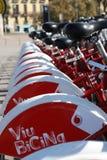 Bicingsfiets die fietsen, Barcelona, Spanje delen Royalty-vrije Stock Afbeeldingen