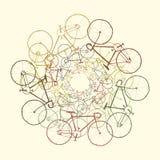 Bicis coloreadas Foto de archivo