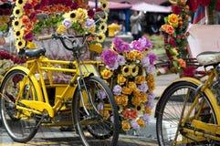 Bicis coloridas Imagen de archivo libre de regalías