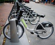 Bicis de alquiler en Boston Fotografía de archivo
