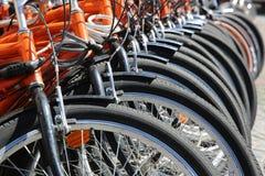 Bicis de alquiler en Hyde Park Fotografía de archivo libre de regalías