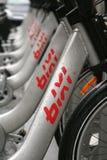 Bicis de Bixi imagen de archivo