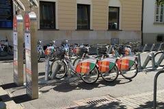 Bicis de la ciudad de Varsovia Fotos de archivo libres de regalías