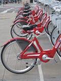 Bicis rojas Fotografía de archivo libre de regalías