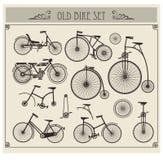 Bicis viejas ilustración del vector