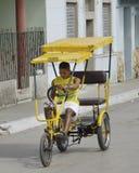 Bicitaxi em Cuba 2012 Fotografia de Stock Royalty Free