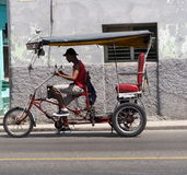Bicitaxi In Havana Cuba Royalty Free Stock Photos