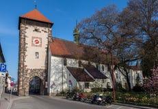 Riettor Clock Tower Villingen-Schwenningen Germa Stock Photos