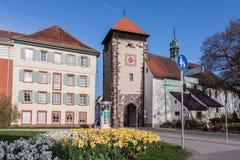 Riettor Clock Tower Villingen-Schwenningen Germa Stock Image