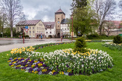 Bickentor Clock Tower Villingen-Schwenningen Germa Royalty Free Stock Photos