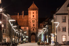 Bickentor Clock Tower Villingen-Schwenningen Germa Royalty Free Stock Photography