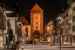 Bickentor Clock Tower Villingen-Schwenningen Germa Royalty Free Stock Images