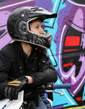 Bicker i graffiti zdjęcie stock