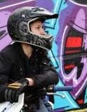 Bicker und Graffiti stockfoto