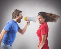 Bickering couple Stock Photography