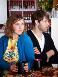 Bickering and frustrated couple Royalty Free Stock Photos