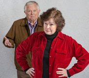 Bickering Senior Couple Stock Photos