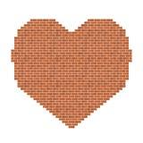 Bicks hjärtaform royaltyfri illustrationer