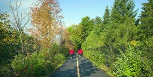 biclycling的人 免版税库存图片