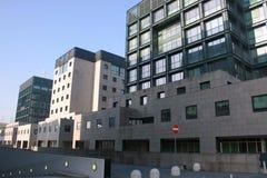 bicocca italy milan new quarter university στοκ φωτογραφία