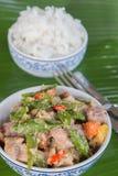 Bicol σαφές με το ρύζι Στοκ Φωτογραφία