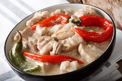 Free Bicol Express With Red And Green Chili Close-up In A Bowl. Horizontal Royalty Free Stock Images - 109027949