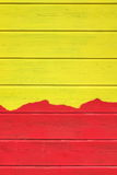 Bicolor желтая красная деревянная предпосылка текстуры paneling с Abstra стоковое изображение rf
