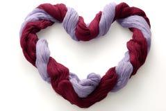 bicolor шерсти пасма формы сердца Стоковые Фотографии RF