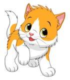 Bicolor kattunge för tecknad film vektor illustrationer