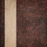 Bicolor leather vintage background Stock Images