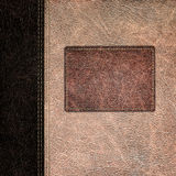 Bicolor leather vintage background Royalty Free Stock Image