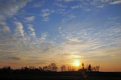 Bicolor sky sunrise Stock Image