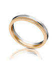 Bicolour gold wedding band Stock Images