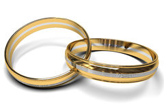 Bicolour wedding rings Royalty Free Stock Photo