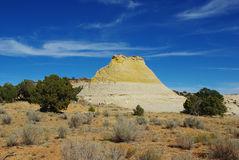 Bicoloured rock hill, Utah Stock Photo