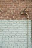 bicolred tegelstenvägg royaltyfri bild