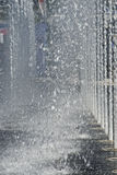 Bicos de água verticais múltiplos Foto de Stock