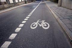 Bicucle lane Stock Images